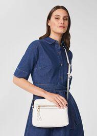 Hampton Leather Crossbody Bag, Chalk, hi-res