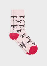 Cat All Over Sock, Pink, hi-res
