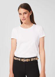 Eugenie Leather Belt, Snake, hi-res