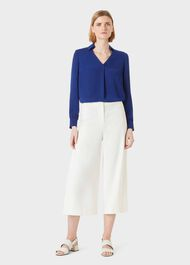 Louisa Cropped Trousers, Ivory, hi-res