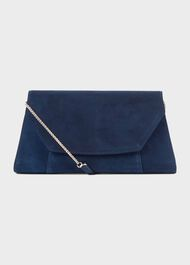 Cartmel Suede Clutch Bag, Midnight, hi-res