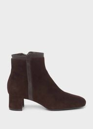 Iro Suede Ankle Boots, Dark Brown, hi-res