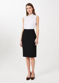 Ophelia Pencil Skirt, Black, hi-res
