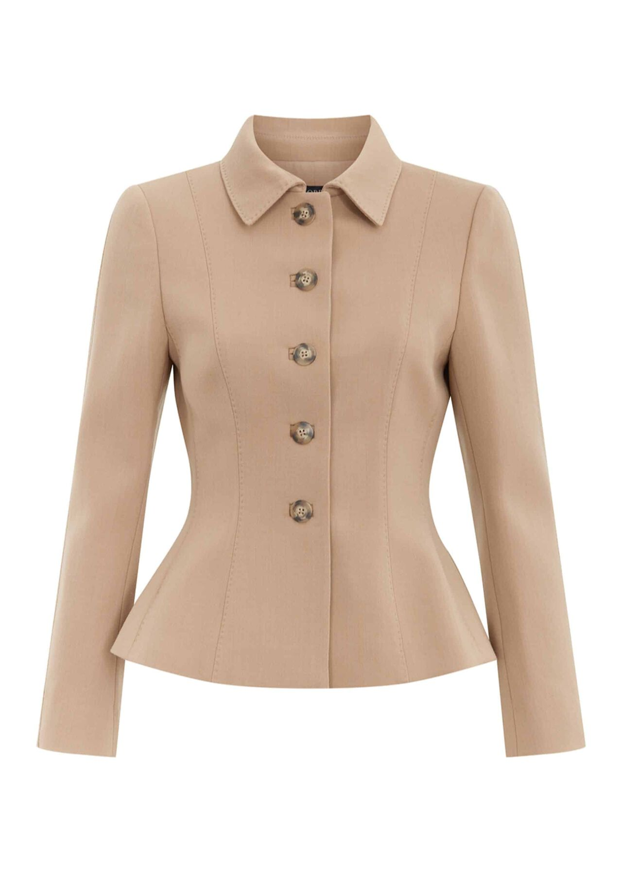 Beatrice Wool Blend Jacket Camel