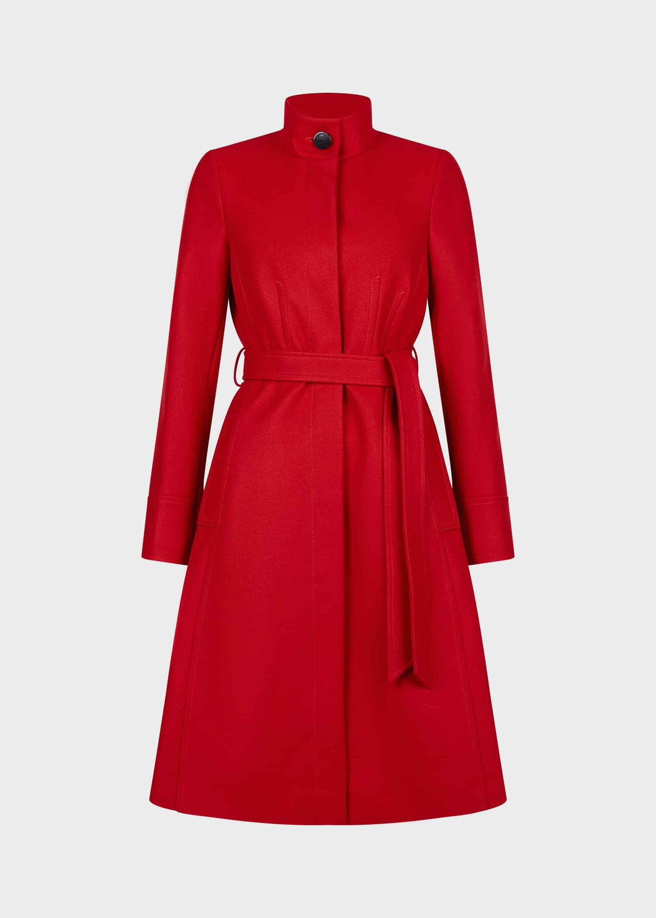 Helen Wool Blend Coat Red