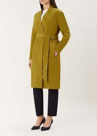 Elisa Wool Blend Coat, Ochre, hi-res