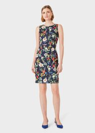 Moira Floral Shift Dress, Midnight Multi, hi-res