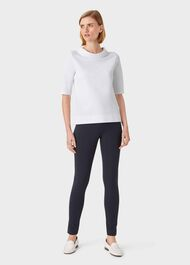 Betsy Jersey Top, White, hi-res
