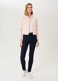 Felicity Tweed Jacket, Pale Pink, hi-res