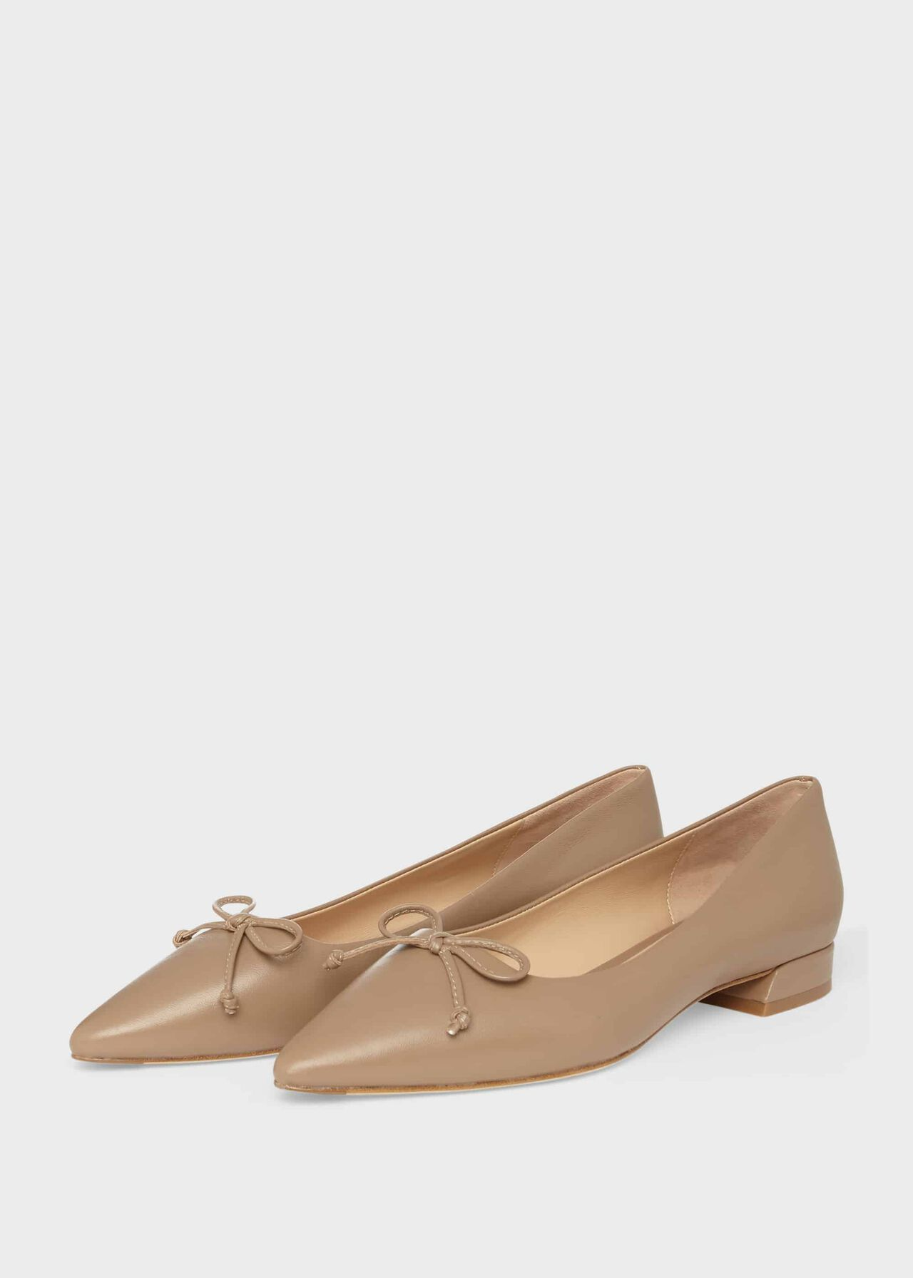 Kayley Leather Ballerinas Fawn