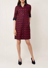 Aubery Dress, Navy Deep Red, hi-res