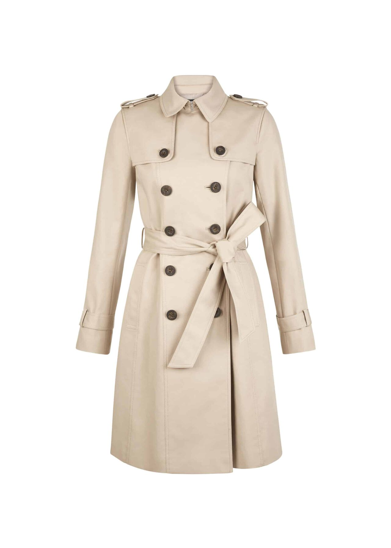 Petite Saskia Trench Coat Clay