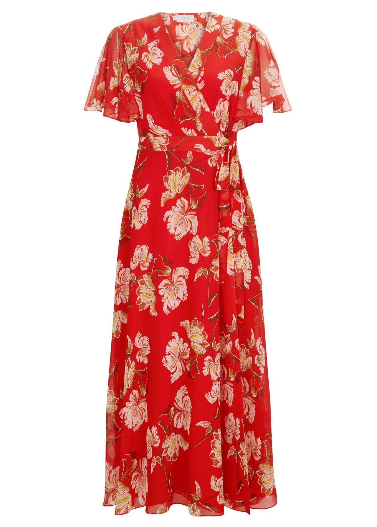 Ottilie Dress Red Multi