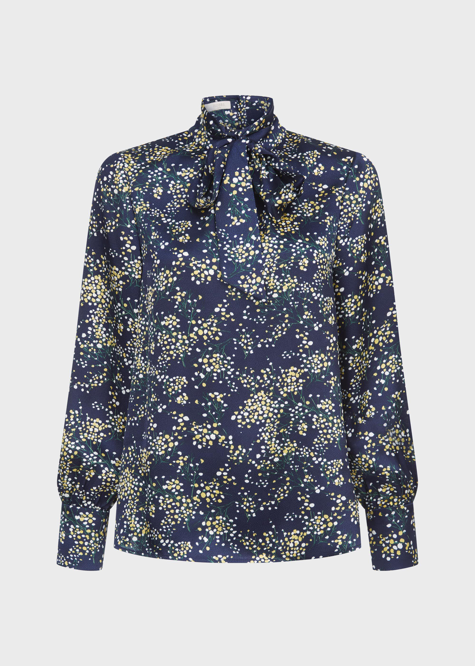 New season £89 Hobbs London Flora Floral Blouse Multi sz 10