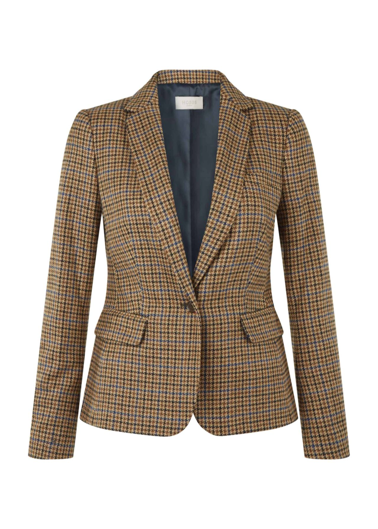 Sophia Wool Jacket Camel Multi