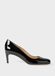 Emma Patent Stiletto Court Shoes, Black, hi-res