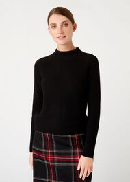 Maeve Merino Wool Blend Sweater, Black, hi-res