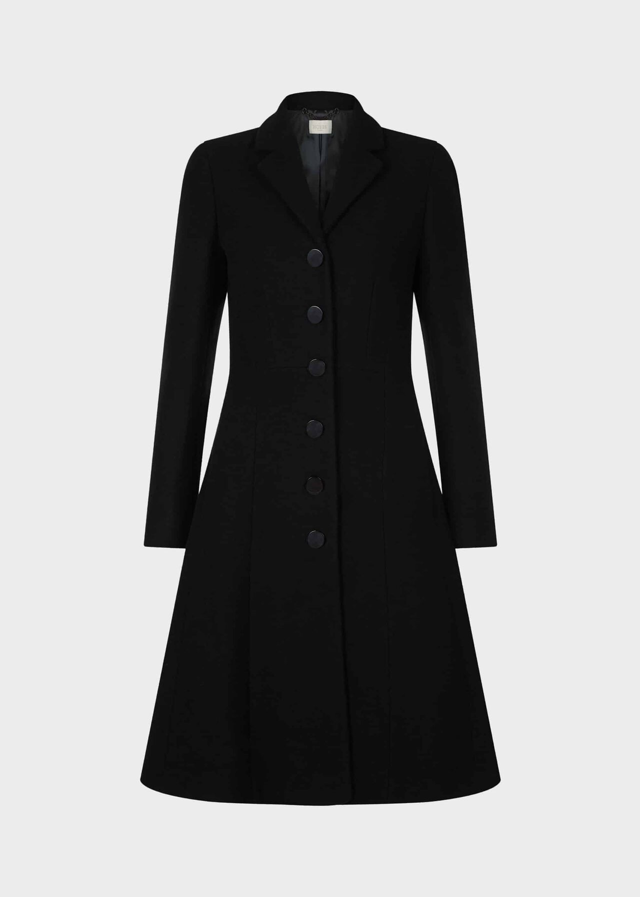Milly Wool Blend Coat Black