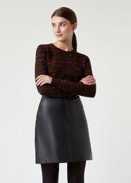 Zadie Merino Wool Sweater, Chestnut Multi, hi-res