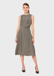 Madeleine Geo Fit And Flare Dress, Blue Multi, hi-res