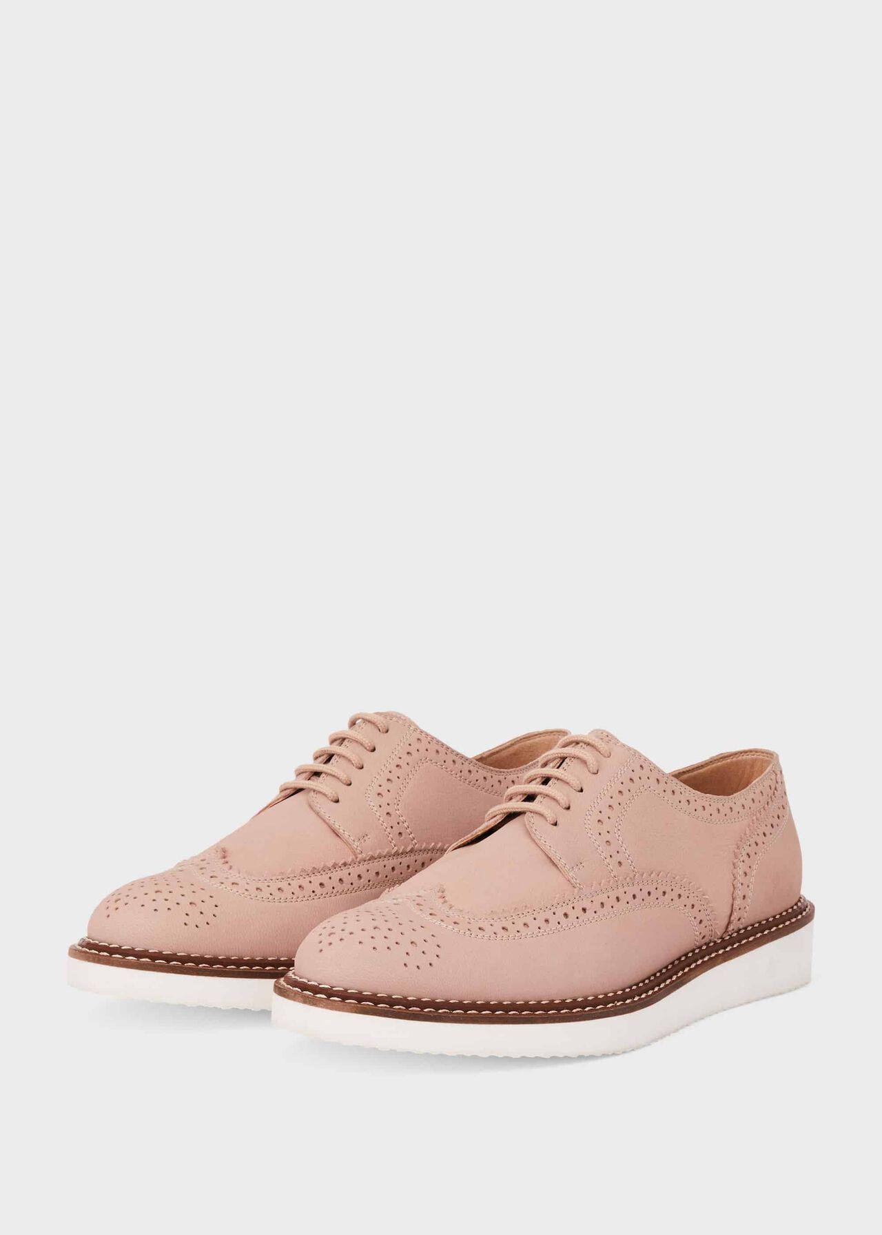 Ottilie Leather Flatform Shoes Fawn