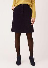 Bronte Corduroy Skirt, Navy, hi-res
