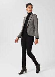 Blake Wool Jacket, Black Ivory, hi-res