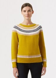 Layla Sweater, Yellow Multi, hi-res