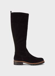 Jennifer Suede Long Boots, Black, hi-res