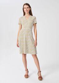 Lina Jersey Dress, Chartreuse Ivry, hi-res