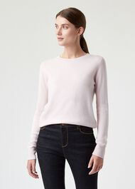Freya Cashmere Sweater, Pale Pink, hi-res