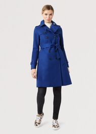 Saskia Trench Coat, Cobalt, hi-res