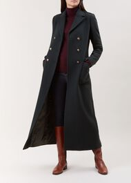 Bianca Wool Blend Coat, Dark Green, hi-res