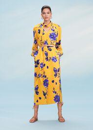 Rosalind Dress, Yellow Blue, hi-res