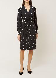 Farrah Dress, Black Ivory, hi-res