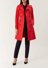 Saskia Trench Coat, Red, hi-res