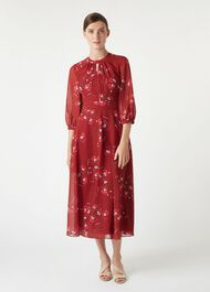 Samantha Dress, Burgundy Cerise, hi-res