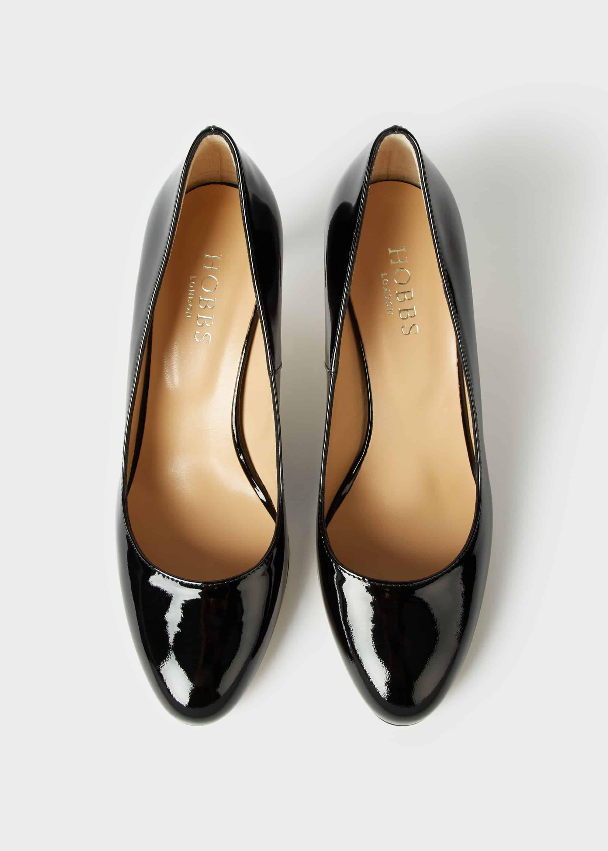Emma Patent Stiletto Court Shoes | Hobbs