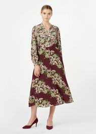 Silk Botanic Dress, Mulberry Multi, hi-res