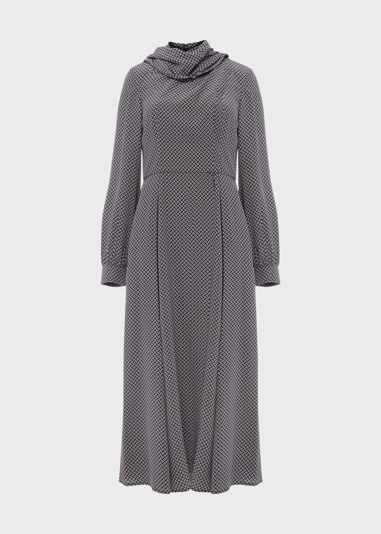 Eleanora Dress Navy Ivory