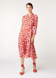 Frederica Dress, Bonfire Red Ivy, hi-res