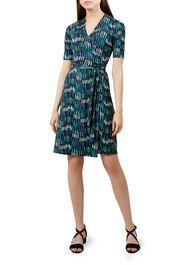 Delilah Wrap Dress, Green Multi, hi-res