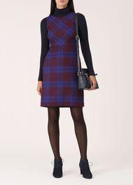 Jerrie Wool Dress, Bordeaux Multi, hi-res
