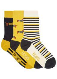 Dachshund Sock Set, Ochre Multi, hi-res
