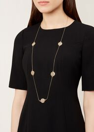 Lily Necklace, Gold, hi-res