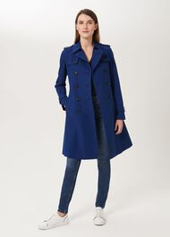 Saskia Water Resistant Trench Coat, Cobalt, hi-res