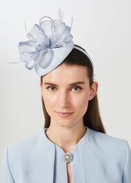 Sloan Fascinator, Celeste Blue, hi-res