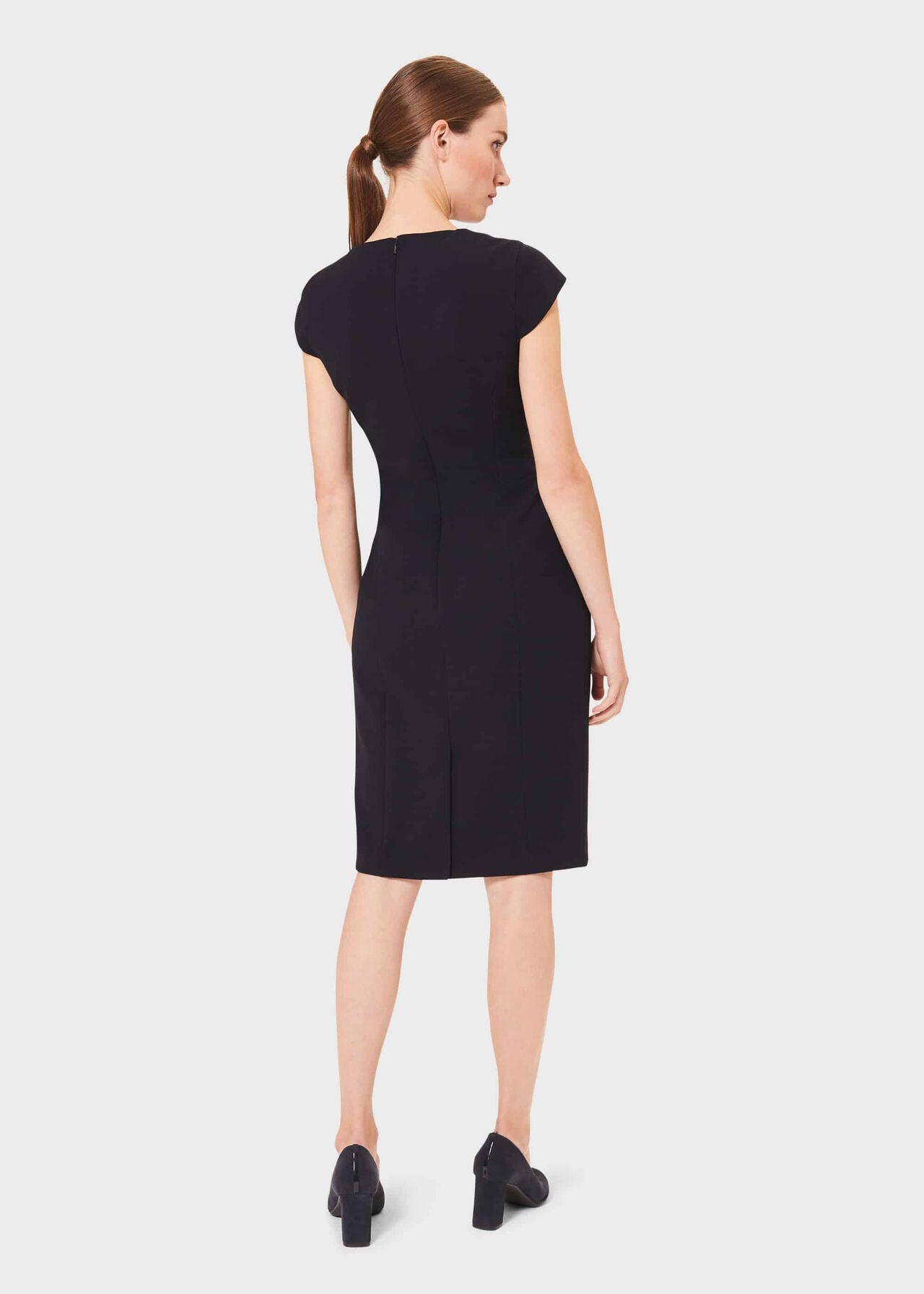 Leila Dress, Navy, hi-res