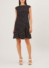 Catalina Dress, Navy White, hi-res