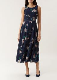 Carly Dress, Midnight, hi-res